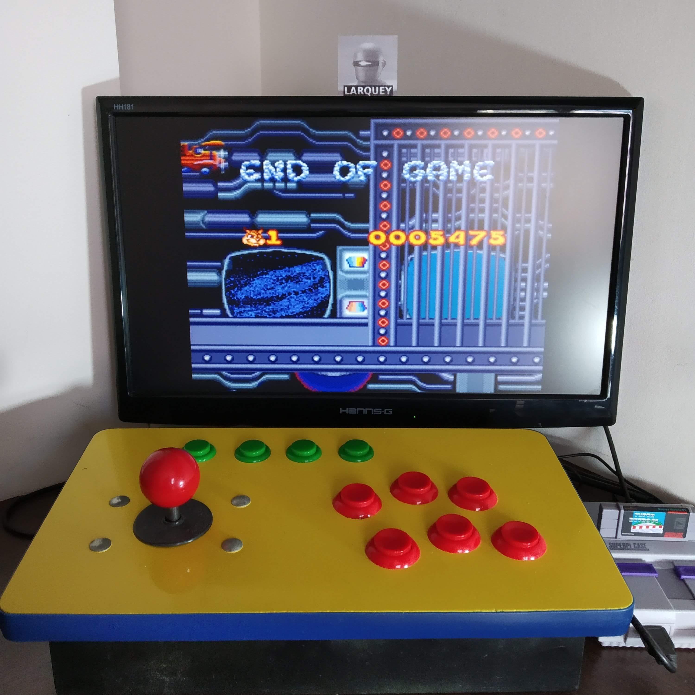 Larquey: Bubsy II (SNES/Super Famicom Emulated) 5,475 points on 2020-08-22 11:01:21