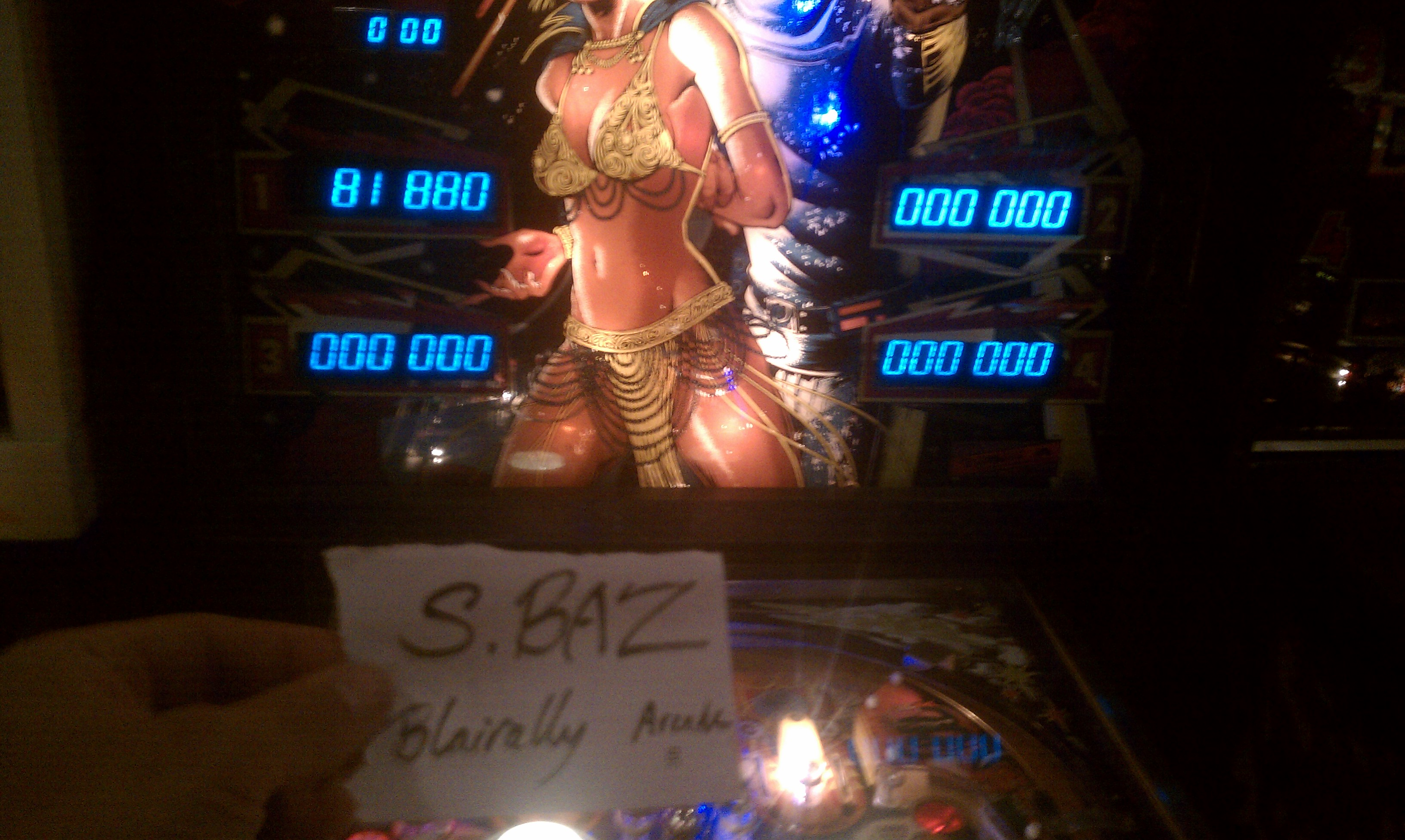 S.BAZ: Buck Rogers (Pinball: 3 Balls) 81,880 points on 2016-04-05 17:21:46