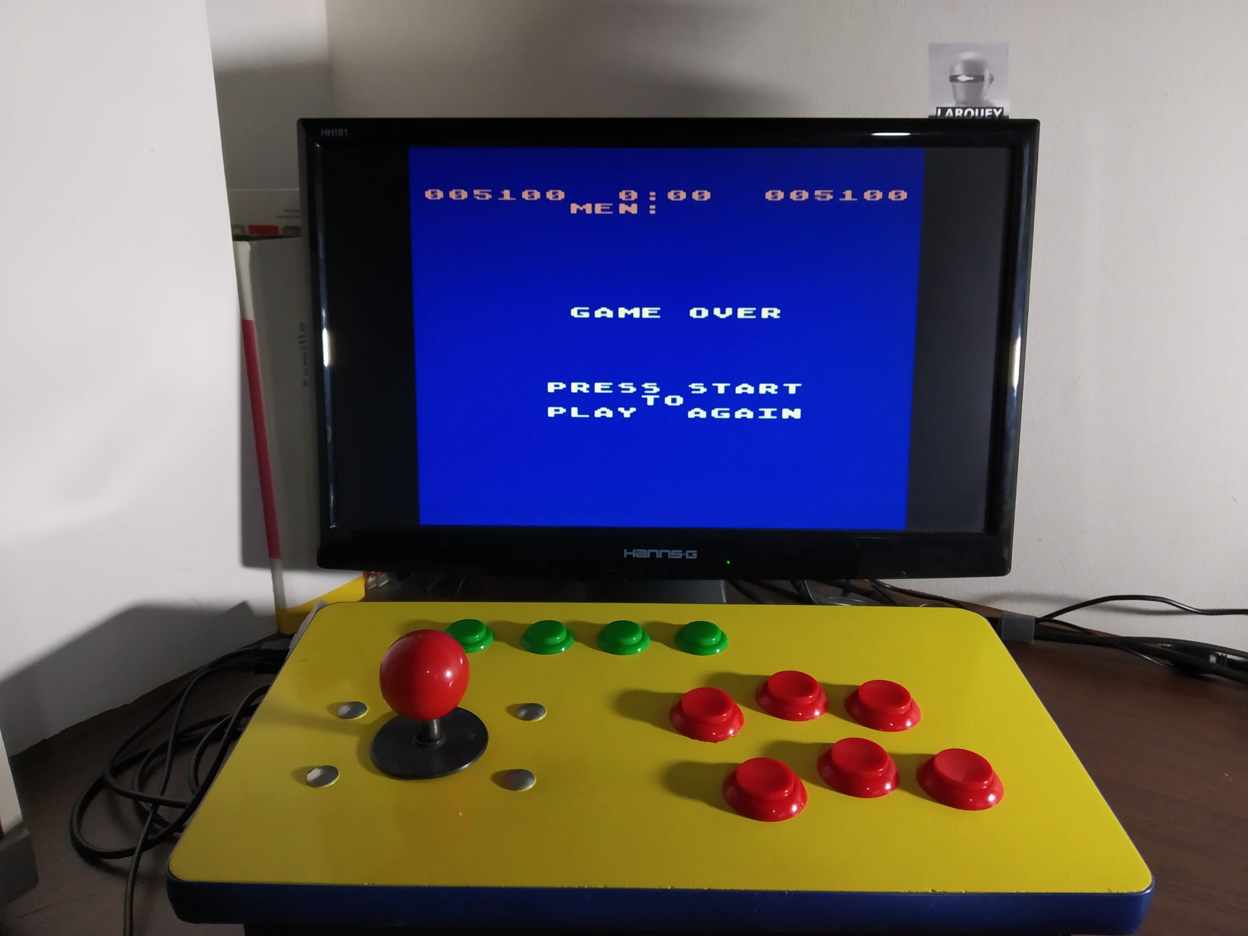 Larquey: Buffalo Stampede [Advanced] (Atari 400/800/XL/XE Emulated) 5,100 points on 2019-12-15 03:29:44