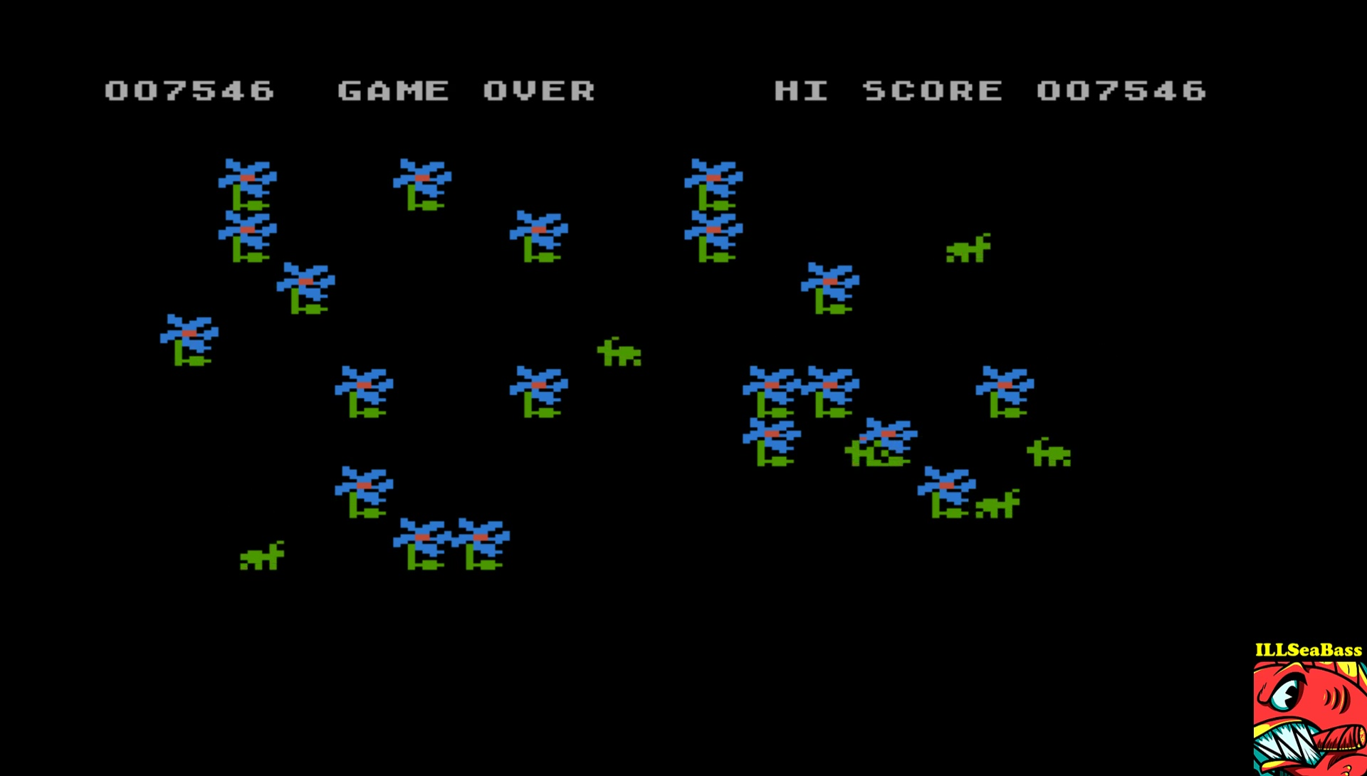 ILLSeaBass: Bug Attack (Atari 400/800/XL/XE Emulated) 7,546 points on 2017-05-16 23:36:05