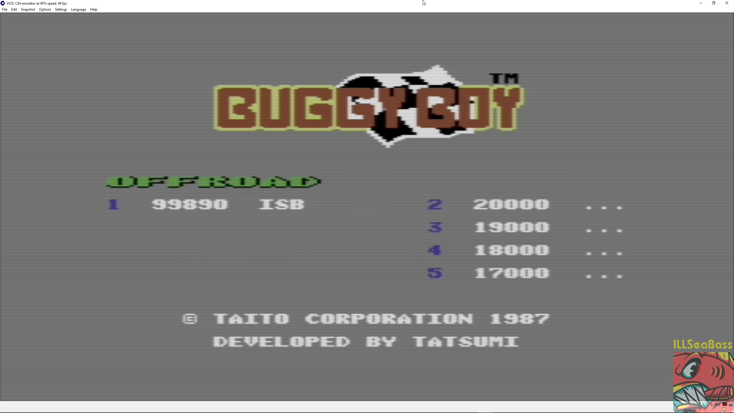 ILLSeaBass: Buggy Boy: Offroad (Commodore 64 Emulated) 99,890 points on 2018-02-28 23:22:12