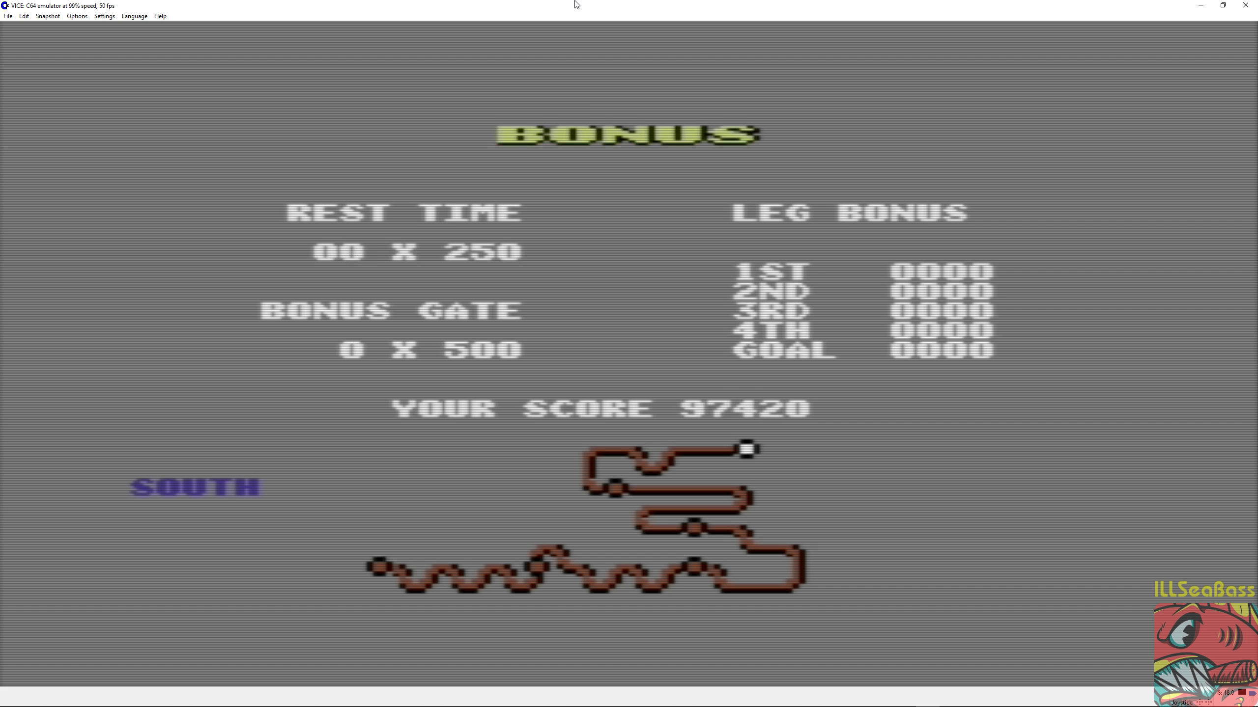 ILLSeaBass: Buggy Boy: South (Commodore 64 Emulated) 97,420 points on 2018-07-05 00:55:02