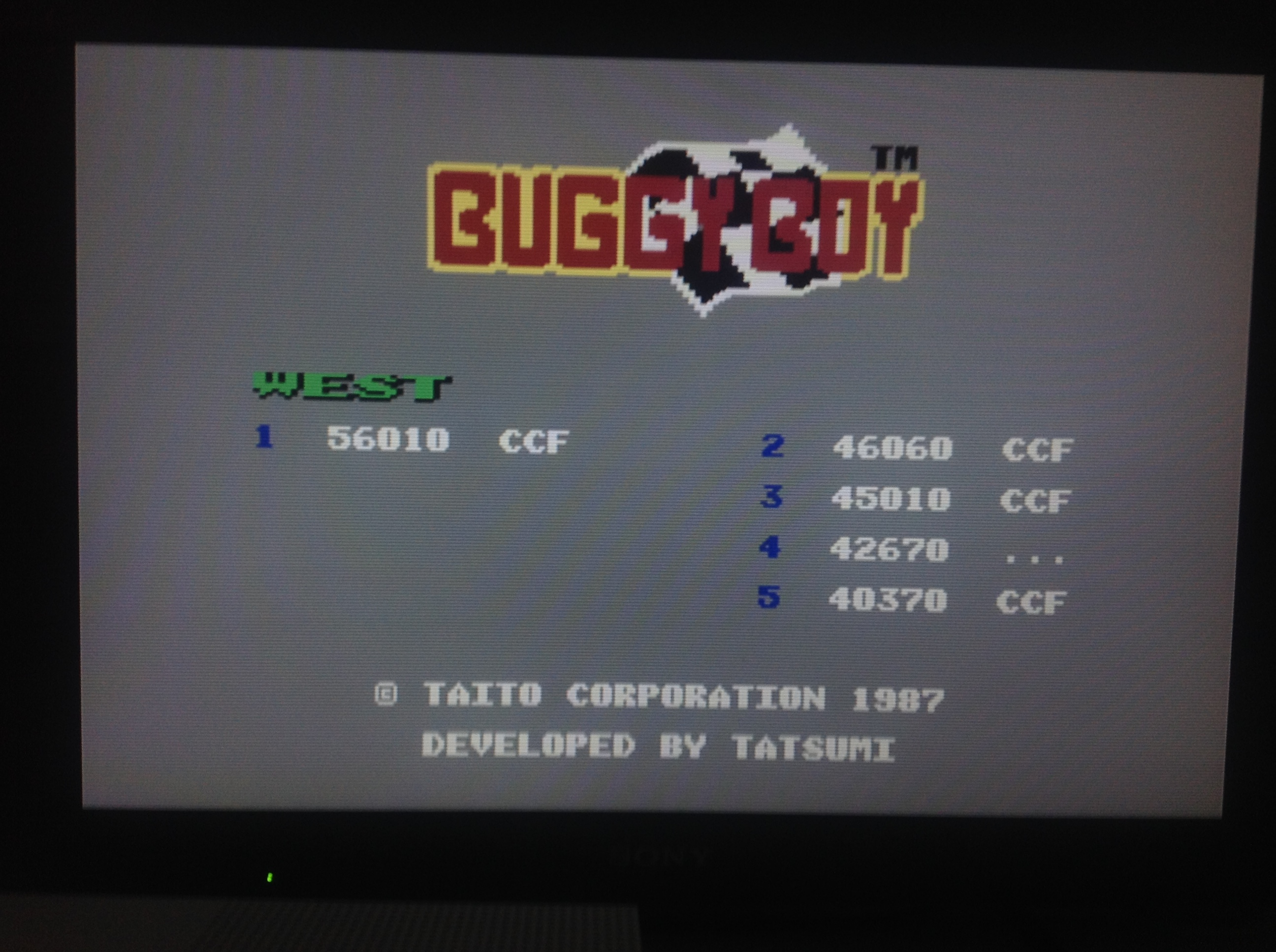 CoCoForest: Buggy Boy: West (Commodore 64 Emulated) 56,010 points on 2018-04-24 11:55:47