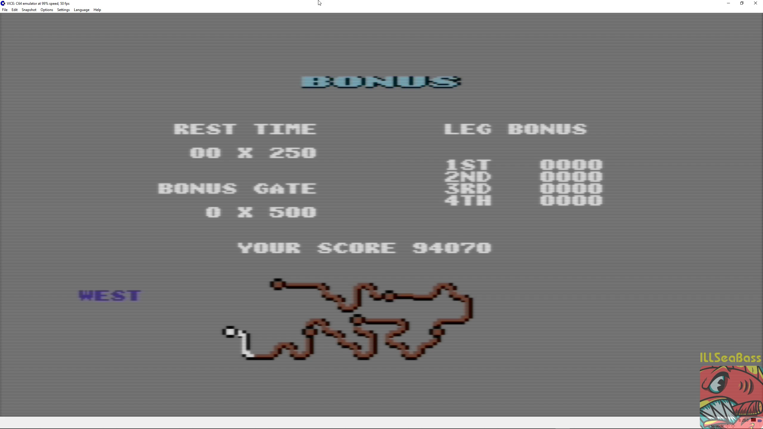 ILLSeaBass: Buggy Boy: West (Commodore 64 Emulated) 94,070 points on 2018-07-07 21:50:19