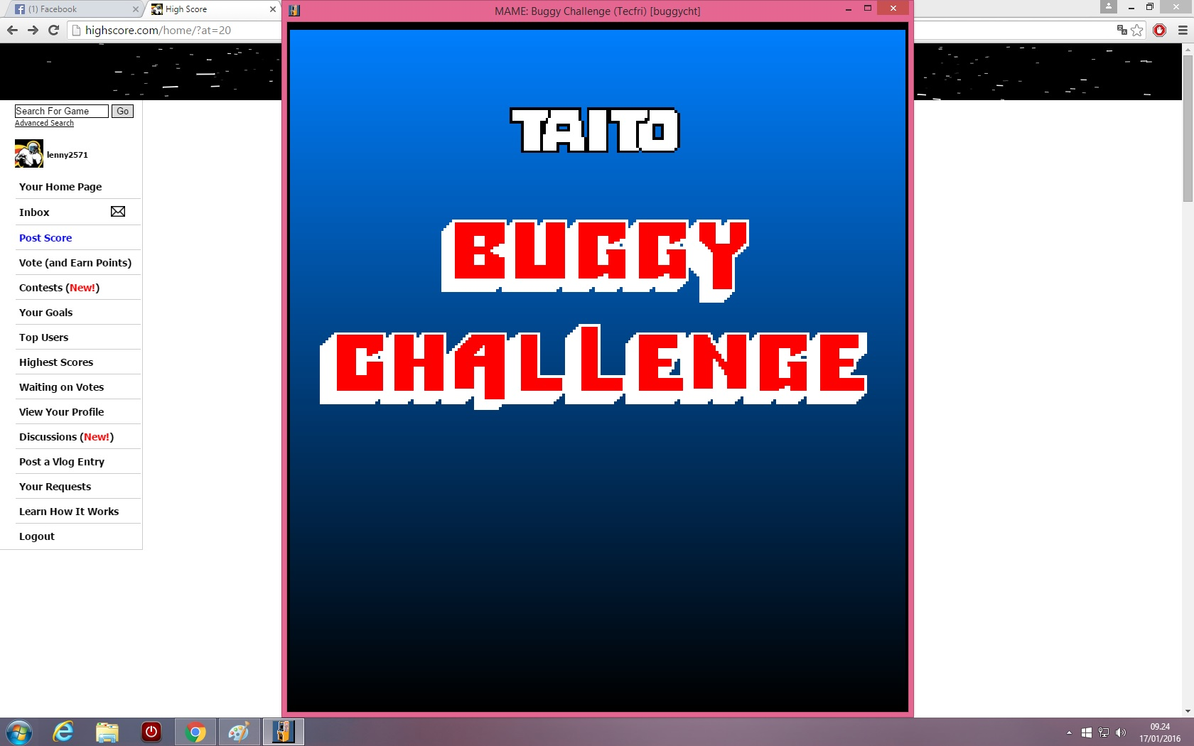 lenny2571: Buggy Challenge [buggychlt] (Arcade Emulated / M.A.M.E.) 7,077 points on 2016-01-17 02:25:44