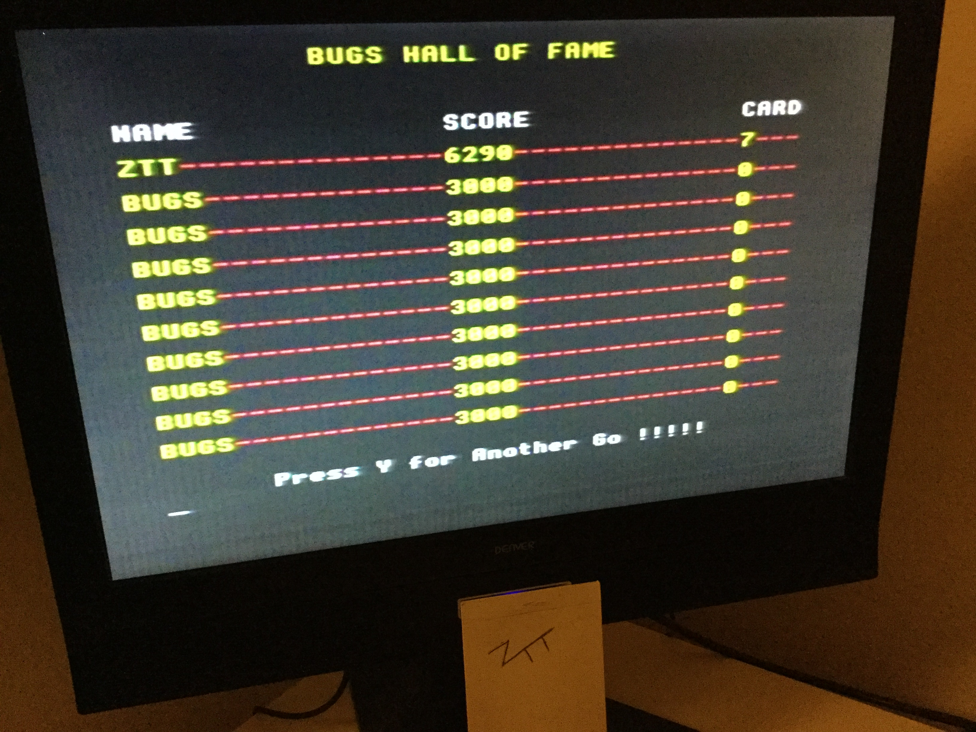 Frankie: Bugs (Acorn Electron) 6,290 points on 2020-02-02 06:33:13