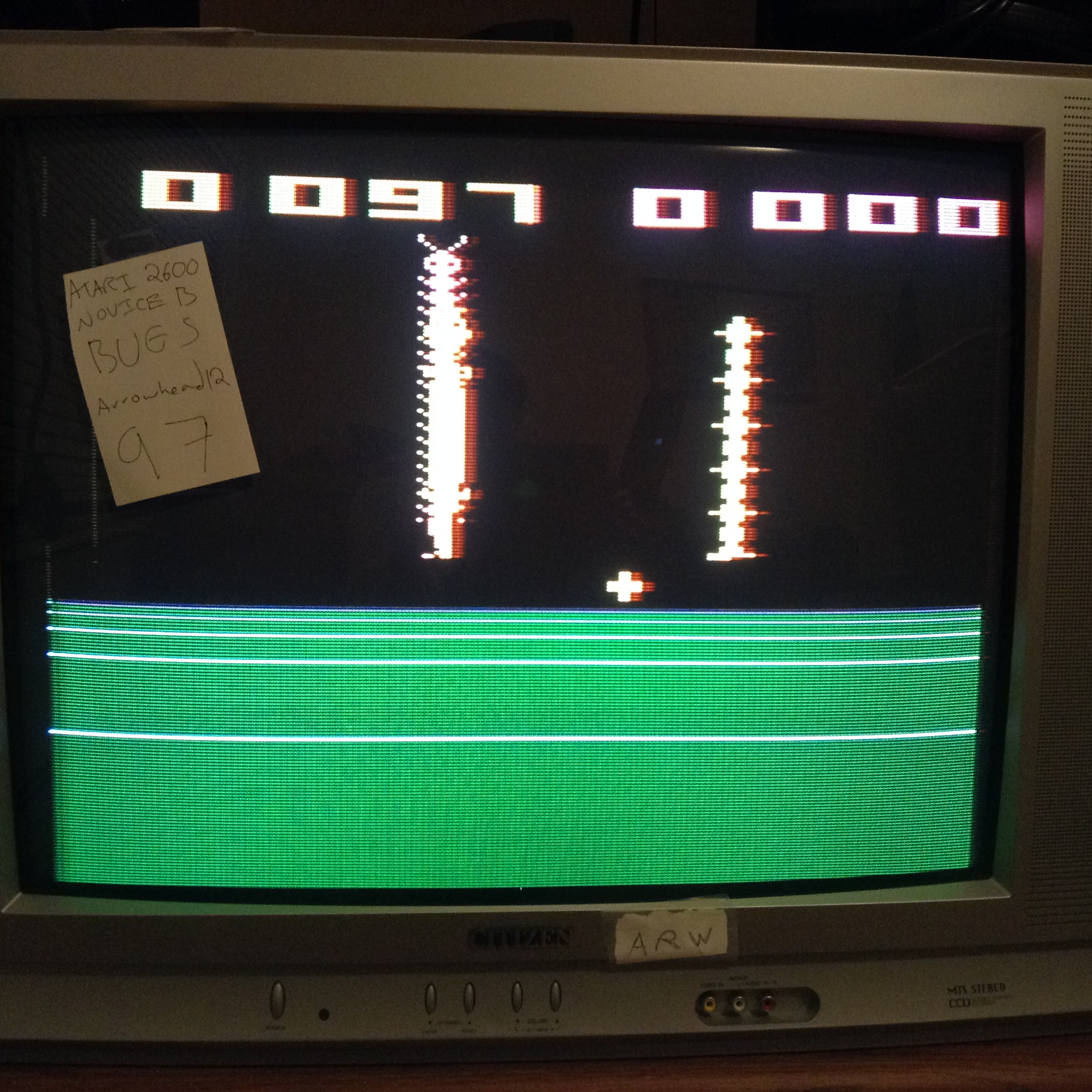 Arrowhead12: Bugs (Atari 2600 Novice/B) 97 points on 2018-11-18 01:52:10