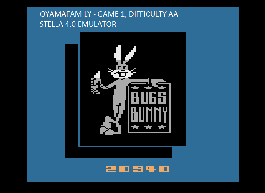 oyamafamily: Bugs Bunny (Atari 2600 Emulated Expert/A Mode) 20,940 points on 2015-08-13 18:18:17
