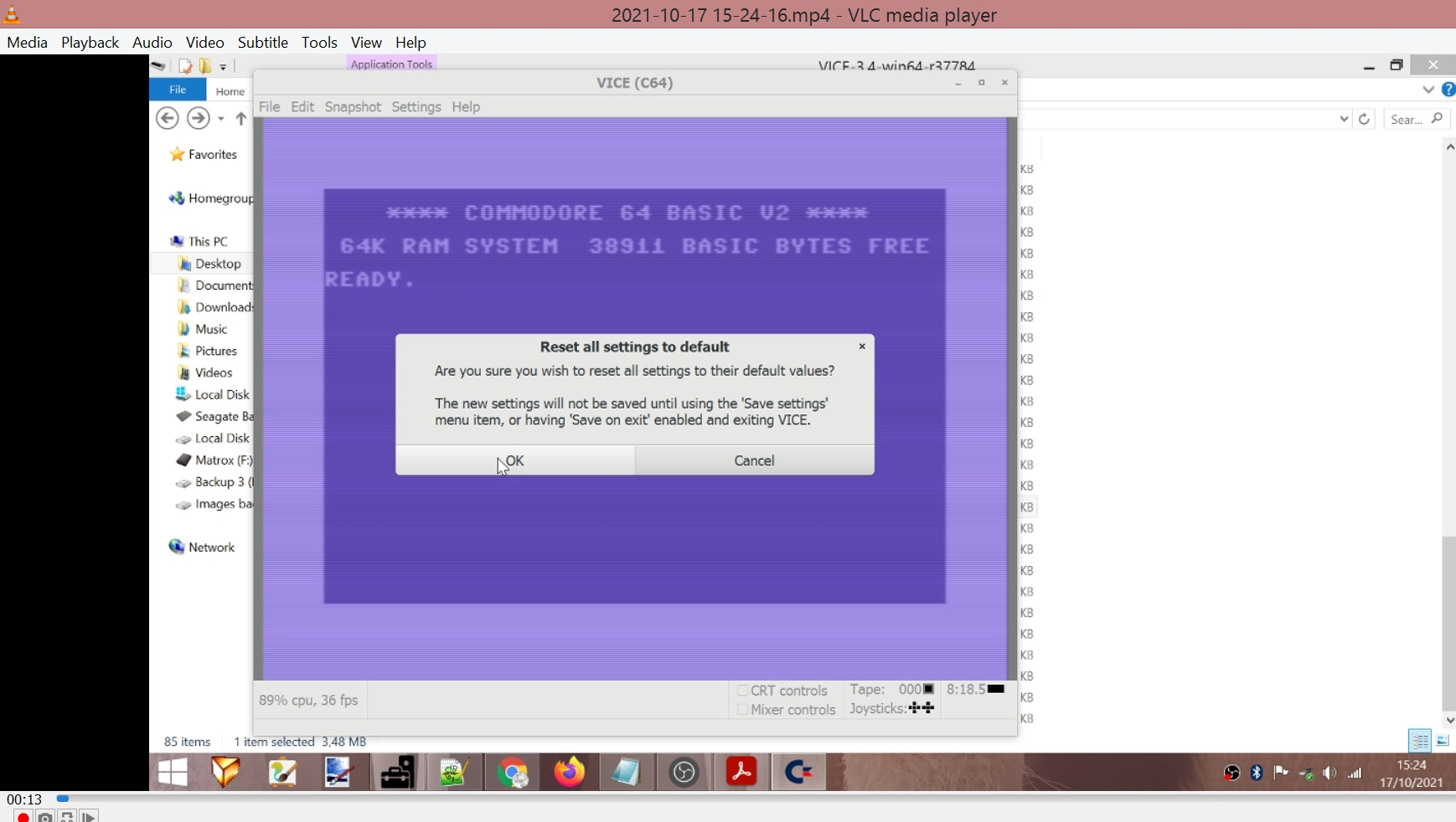 LuigiRuffolo: Bumble-Bee (Commodore 64 Emulated) 8,260 points on 2021-10-17 08:34:51