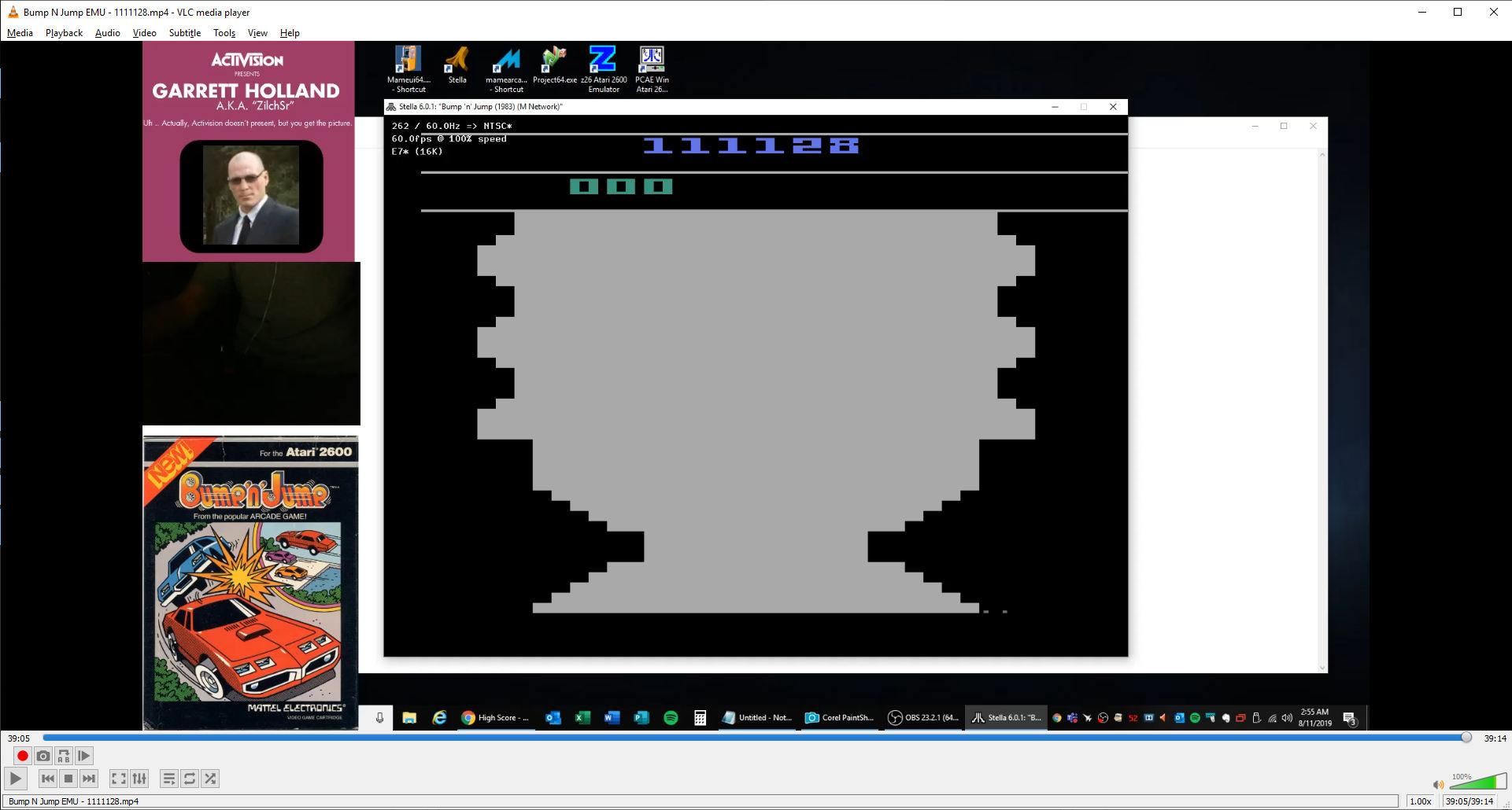 ZilchSr: Bump N Jump (Atari 2600 Emulated) 1,111,128 points on 2019-08-11 02:05:47