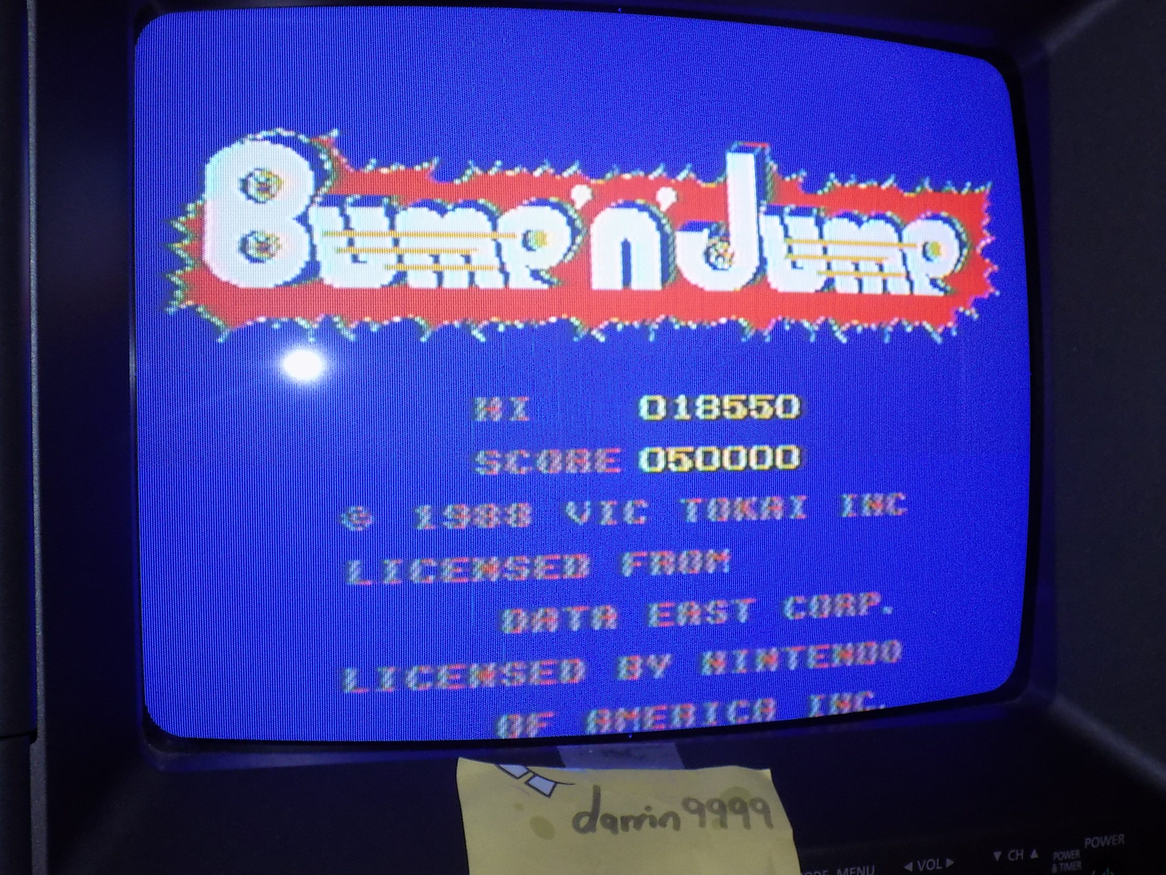 darrin9999: Bump N Jump (NES/Famicom) 18,550 points on 2018-02-06 15:20:51