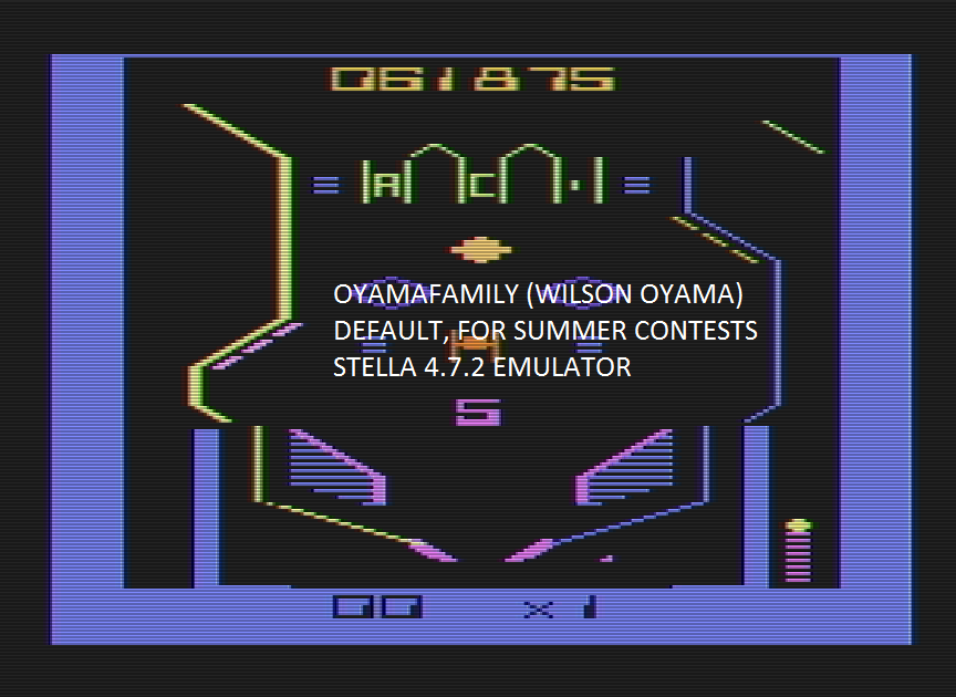 oyamafamily: Bumper Bash (Atari 2600 Emulated) 61,875 points on 2016-08-08 19:38:10