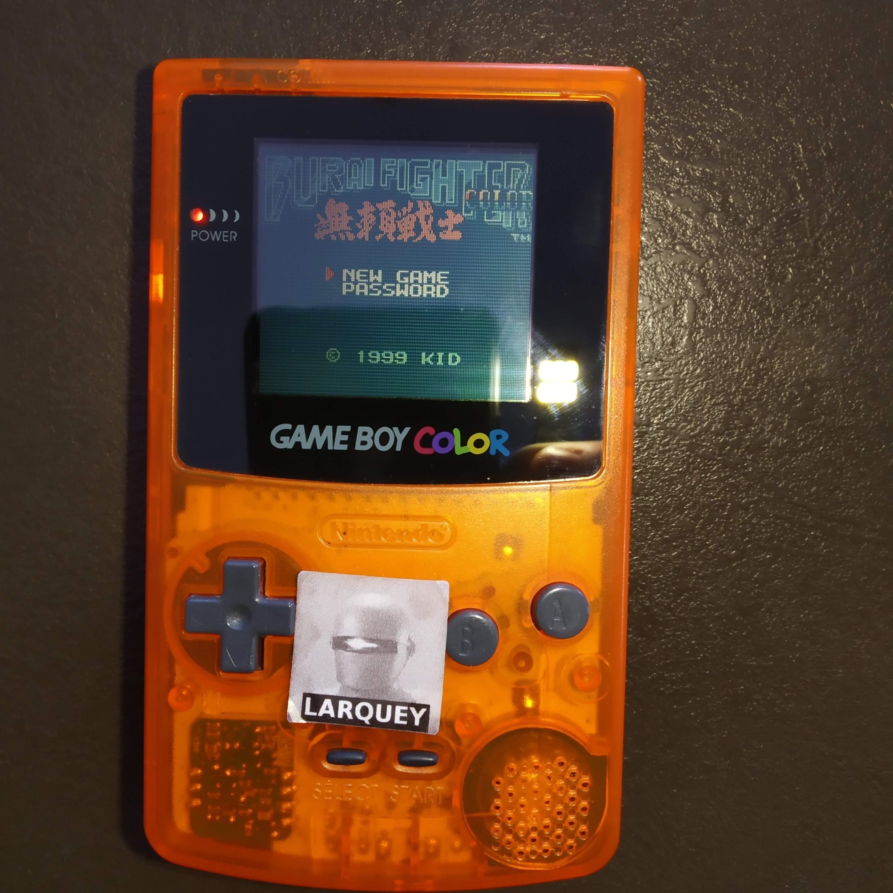 Larquey: Burai Fighter Color [Ace] (Game Boy Color) 22,550 points on 2020-07-29 05:00:54