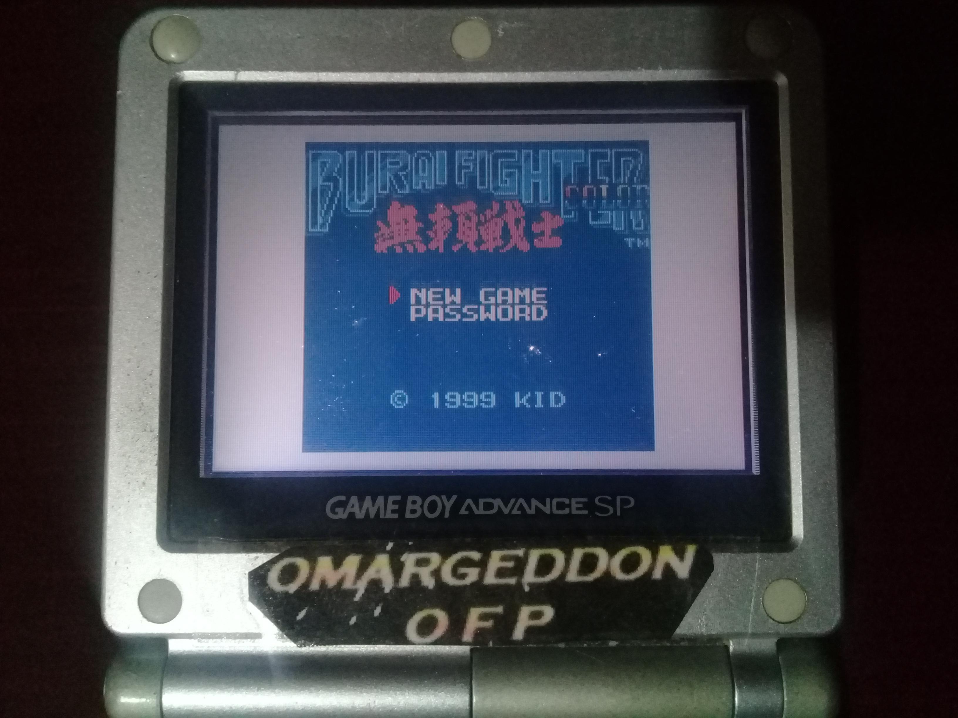 omargeddon: Burai Fighter Color [Eagle] (Game Boy Color) 227,410 points on 2019-01-13 00:11:30