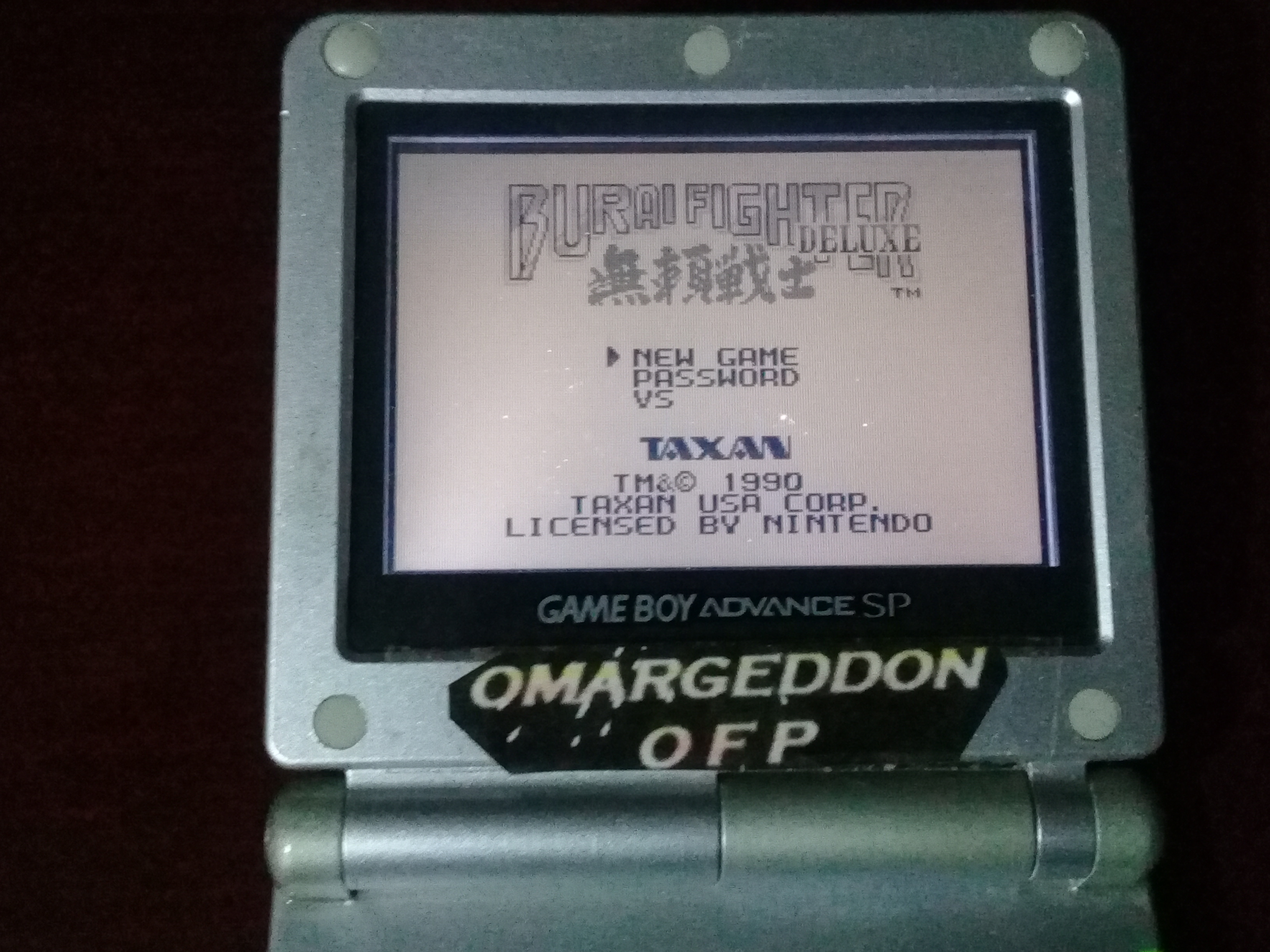 omargeddon: Burai Fighter Deluxe (Game Boy) 161,640 points on 2018-12-13 19:24:32