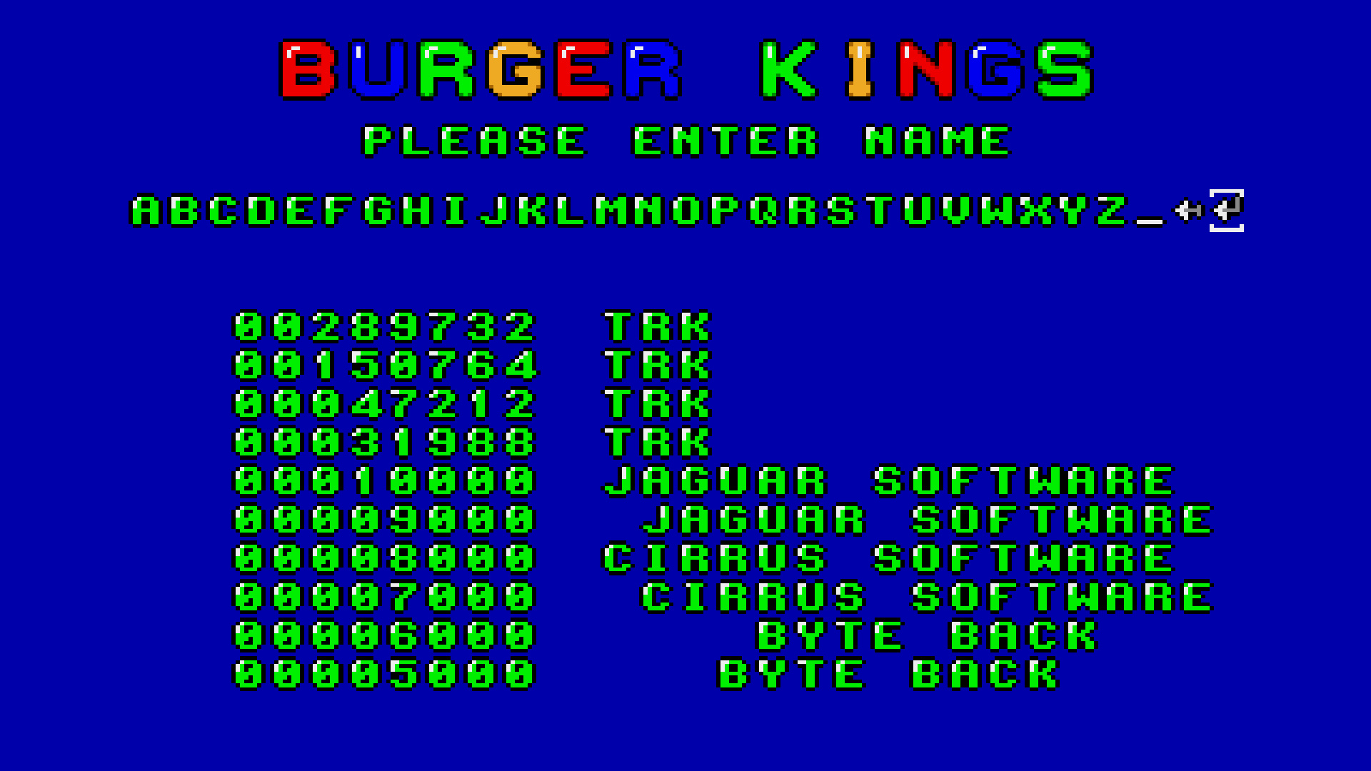 TheTrickster: Burger Man (Amiga Emulated) 289,732 points on 2015-08-02 01:05:43