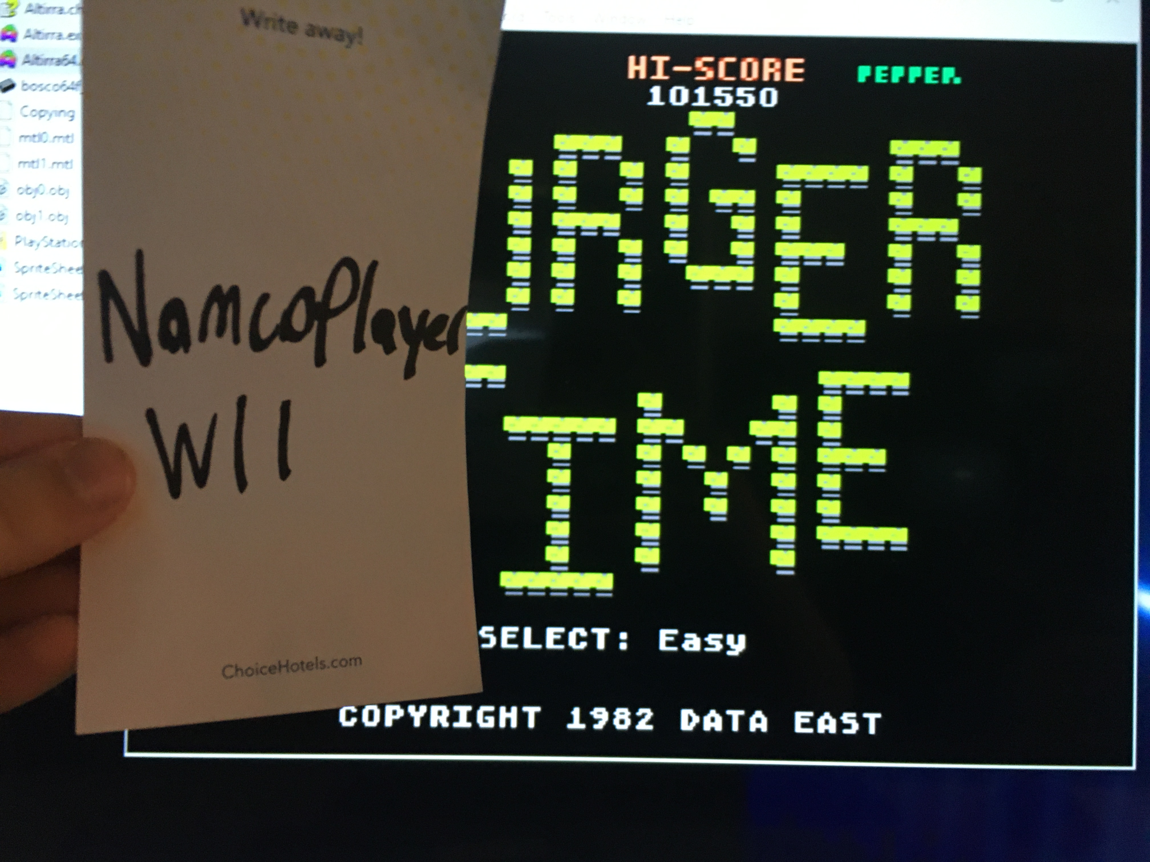 NamcoPlayer: Burger Time (5200) [Easy] (Atari 400/800/XL/XE Emulated) 101,550 points on 2020-11-16 13:50:45