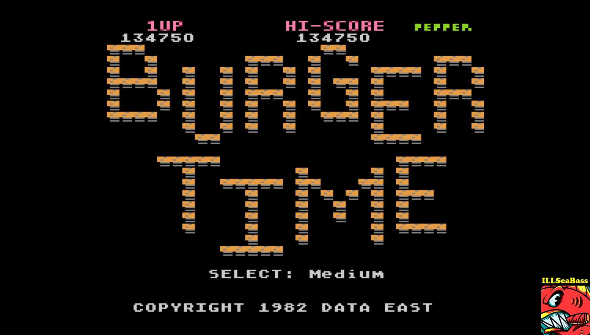 ILLSeaBass: Burger Time (5200) [Medium] (Atari 400/800/XL/XE Emulated) 134,750 points on 2017-06-05 00:23:51