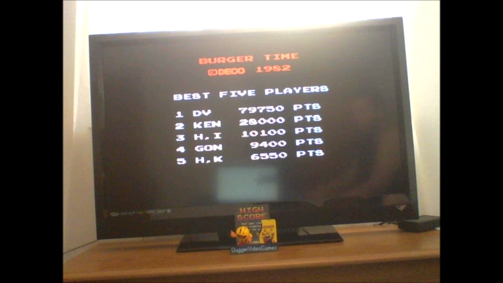 DuggerVideoGames: BurgerTime (Arcade Emulated / M.A.M.E.) 79,750 points on 2017-01-31 12:10:30