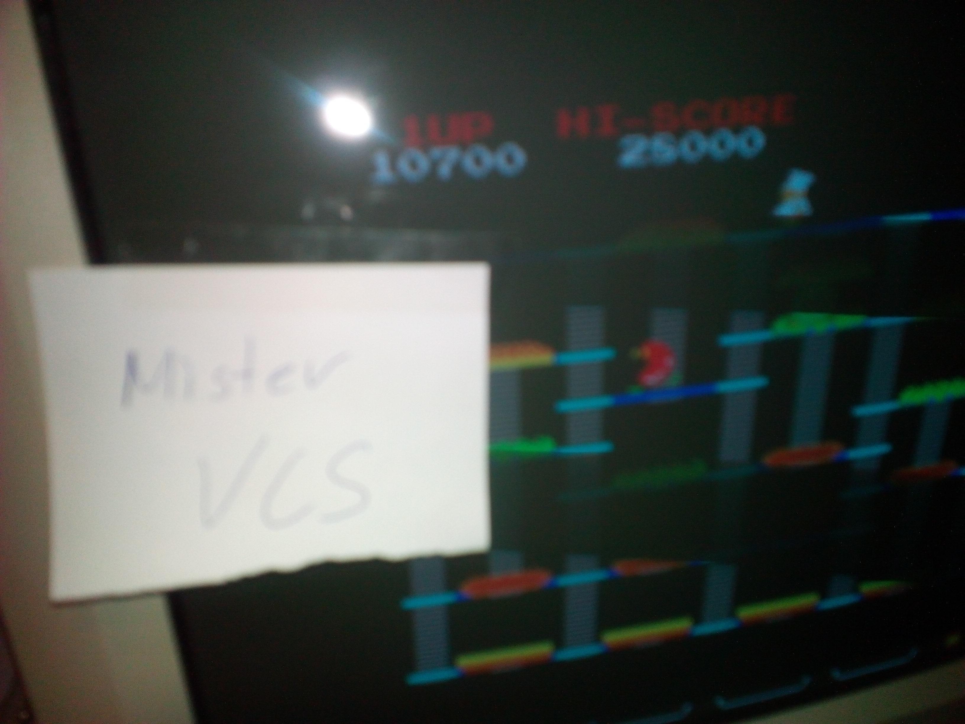 MisterVCS: BurgerTime (Arcade Emulated / M.A.M.E.) 10,700 points on 2018-09-14 15:09:45