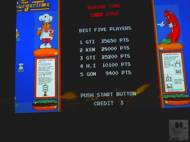 GTibel: BurgerTime (Arcade Emulated / M.A.M.E.) 35,650 points on 2018-12-13 10:42:09