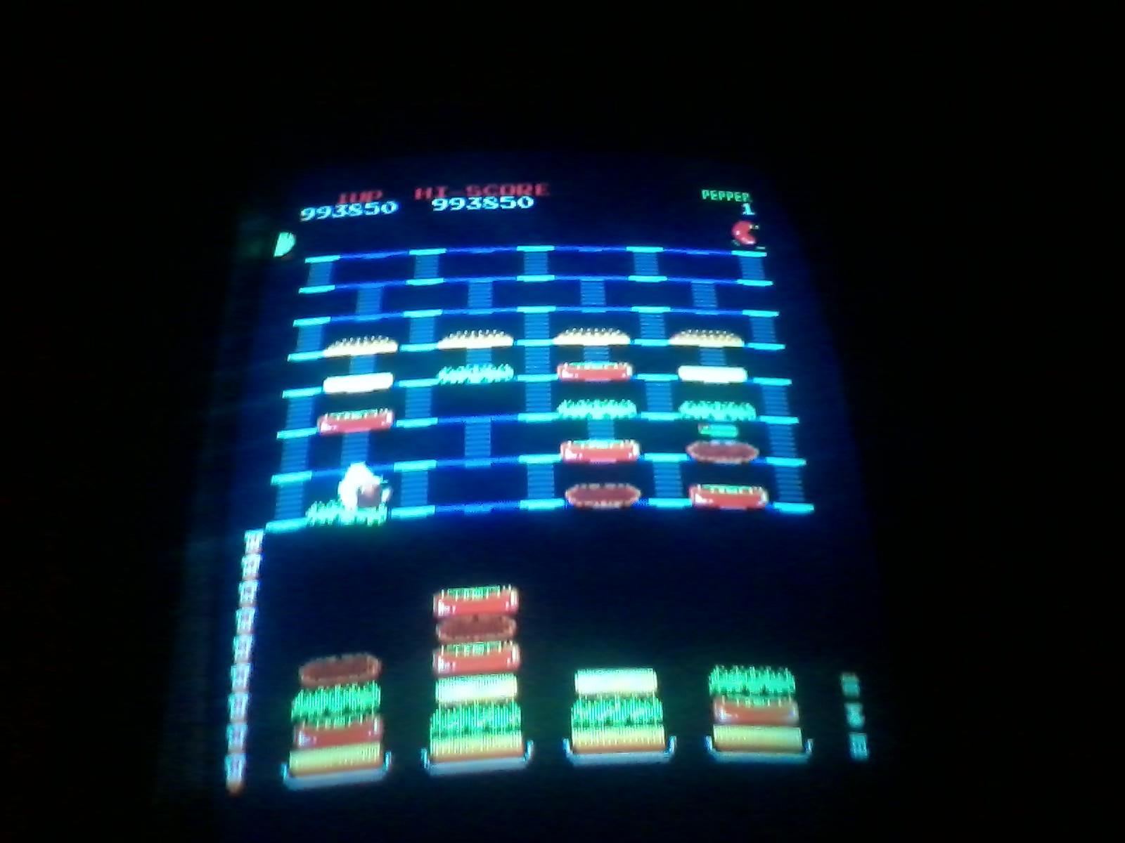 BurgerTime 993,850 points