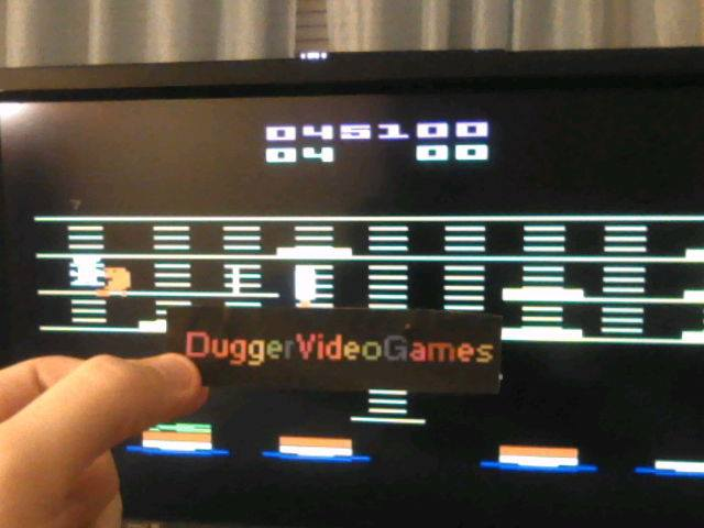 DuggerVideoGames: BurgerTime (Atari 2600 Emulated) 45,100 points on 2018-01-13 03:43:03
