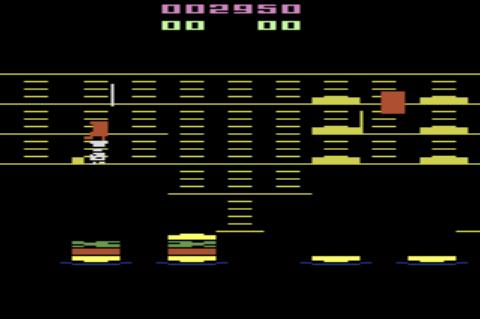 GAMES: BurgerTime (Atari 2600) 2,950 points on 2019-12-28 20:35:43