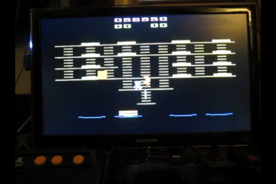 zerooskul: BurgerTime (Atari 2600 Emulated) 56,550 points on 2020-07-07 07:17:39