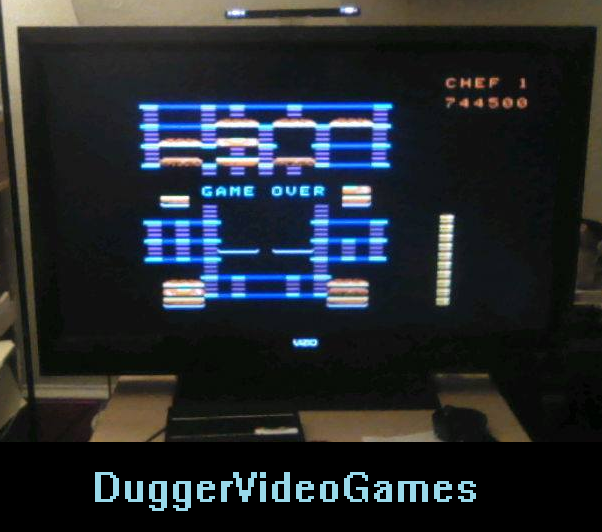 DuggerVideoGames: BurgerTime (Colecovision Emulated) 744,500 points on 2016-03-28 06:10:49
