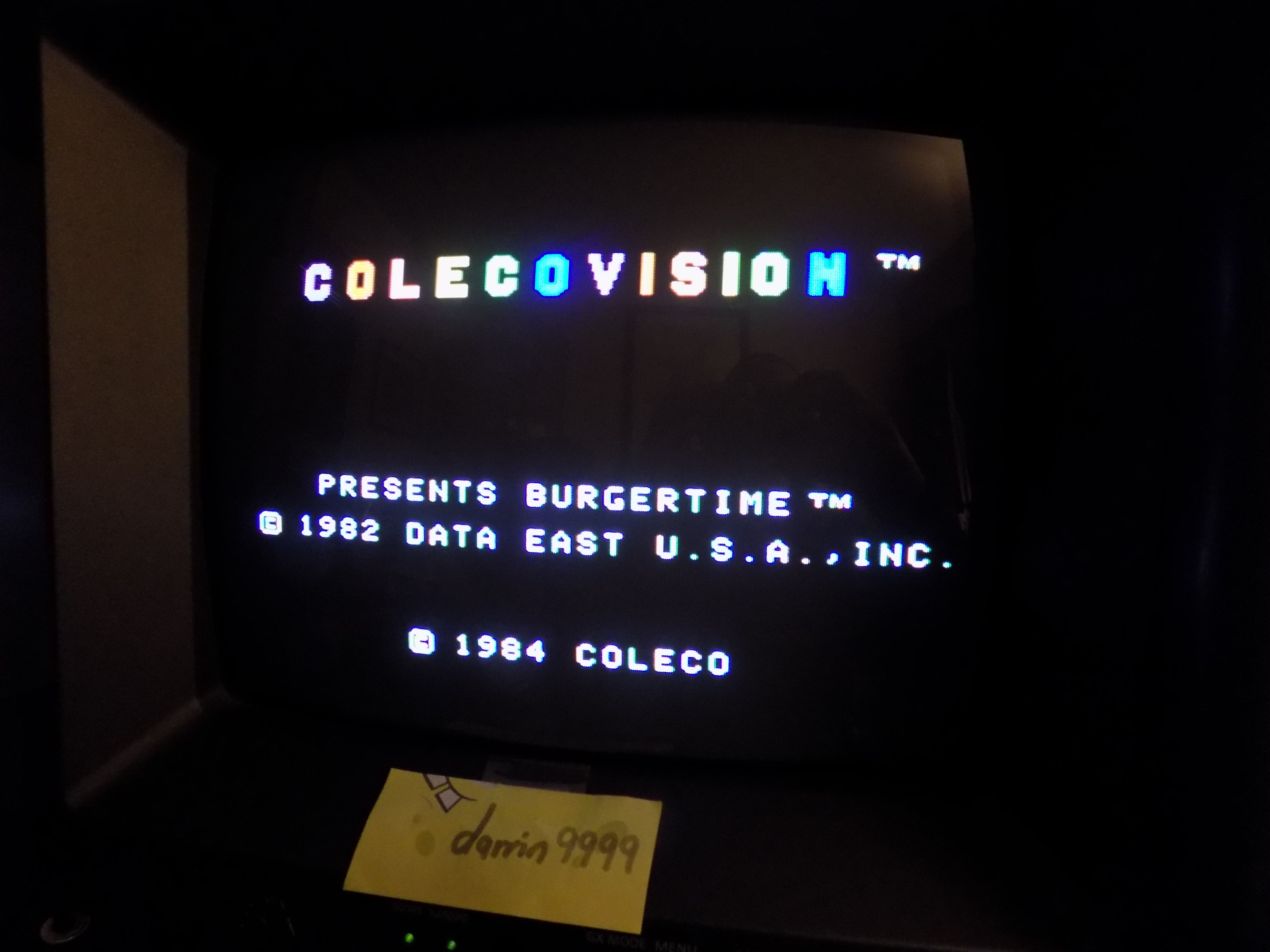 darrin9999: BurgerTime (Colecovision) 15,950 points on 2017-01-18 07:30:14