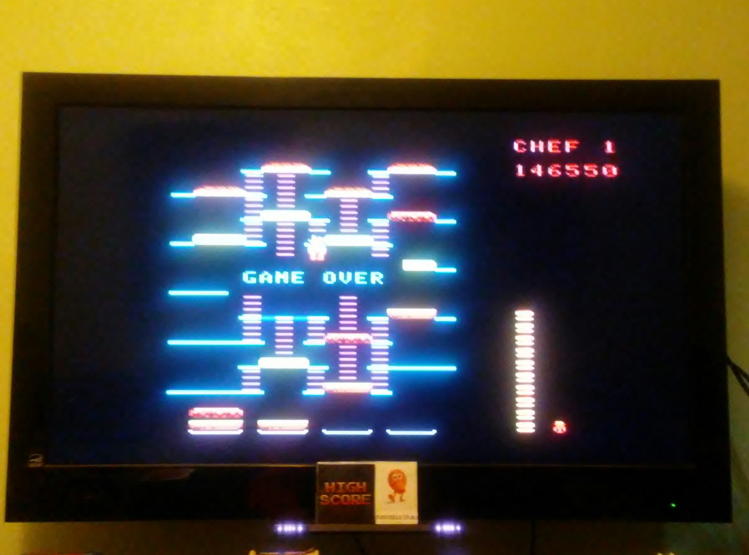 Pjsteele: BurgerTime (Colecovision Emulated) 146,550 points on 2018-04-06 19:32:32