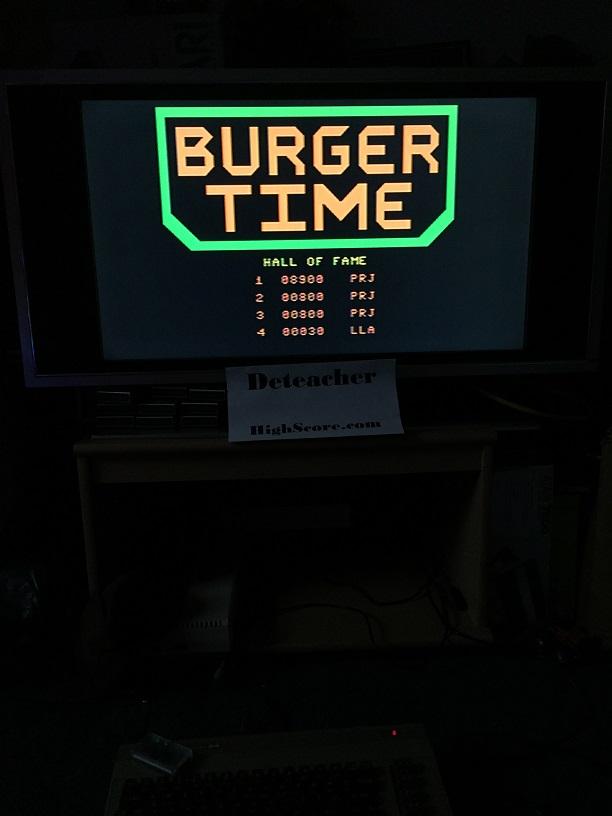 Deteacher: BurgerTime (Commodore 64) 8,900 points on 2016-01-01 15:41:01