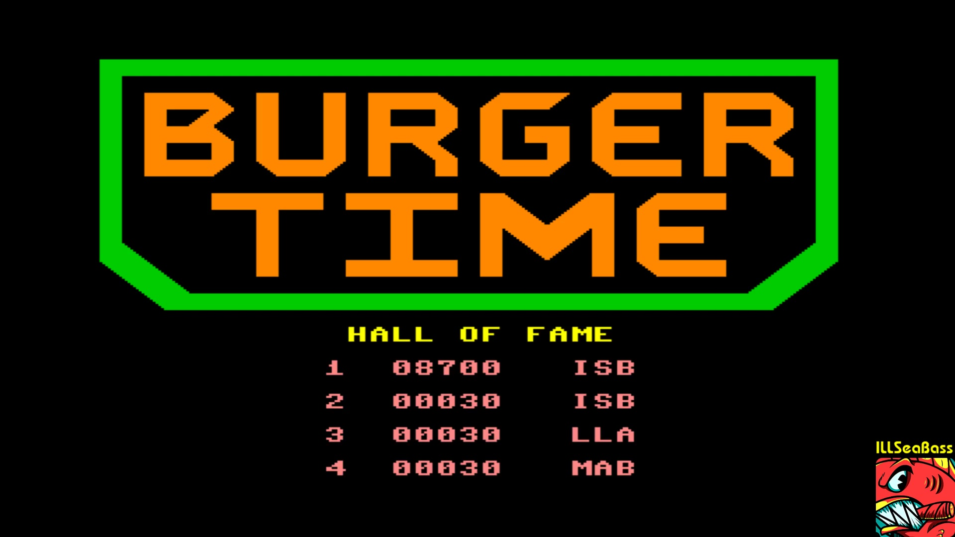 ILLSeaBass: BurgerTime (Commodore 64 Emulated) 8,700 points on 2018-01-06 10:48:35