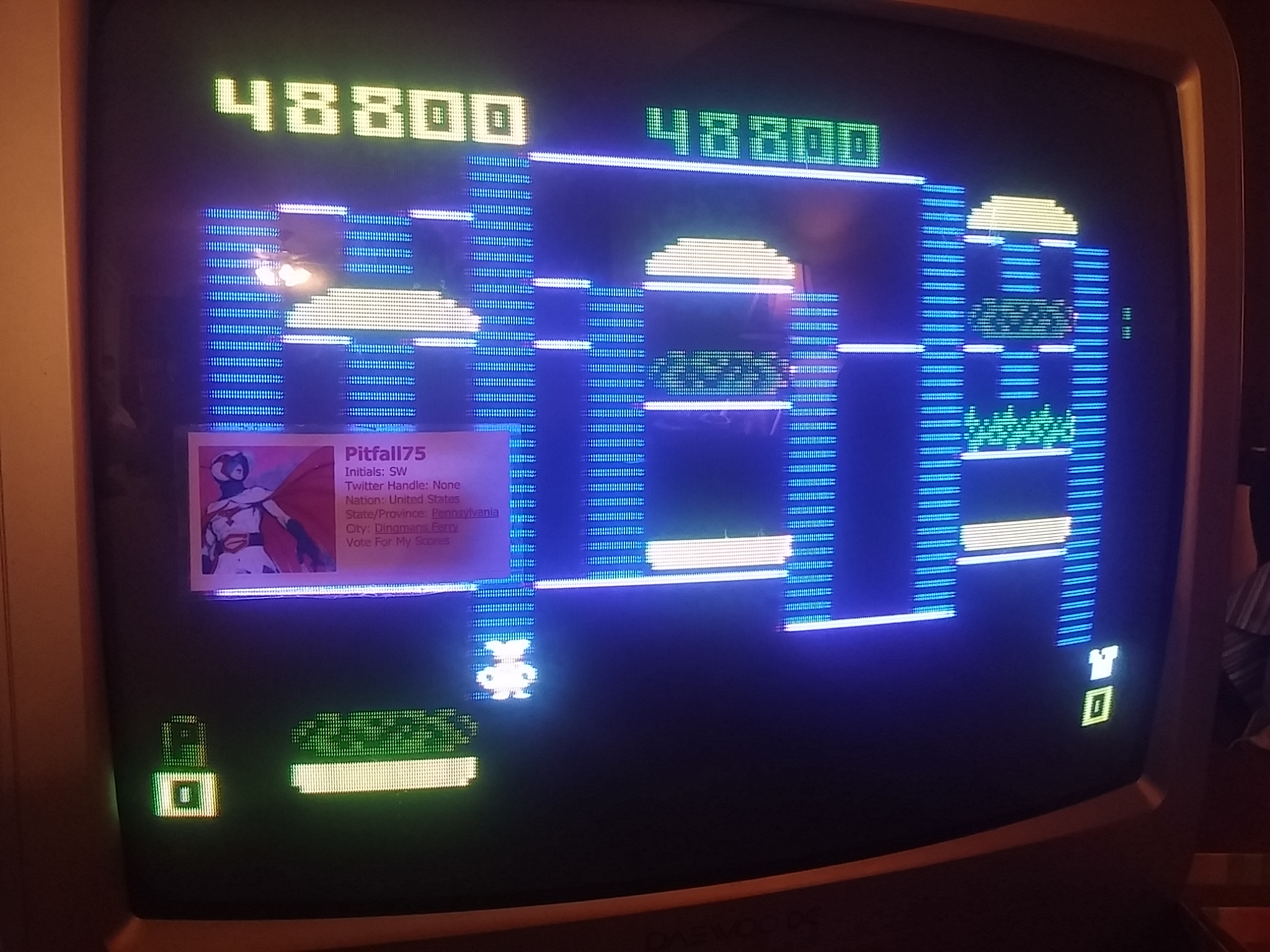 Pitfall75: BurgerTime (Intellivision) 48,800 points on 2018-01-20 18:31:49