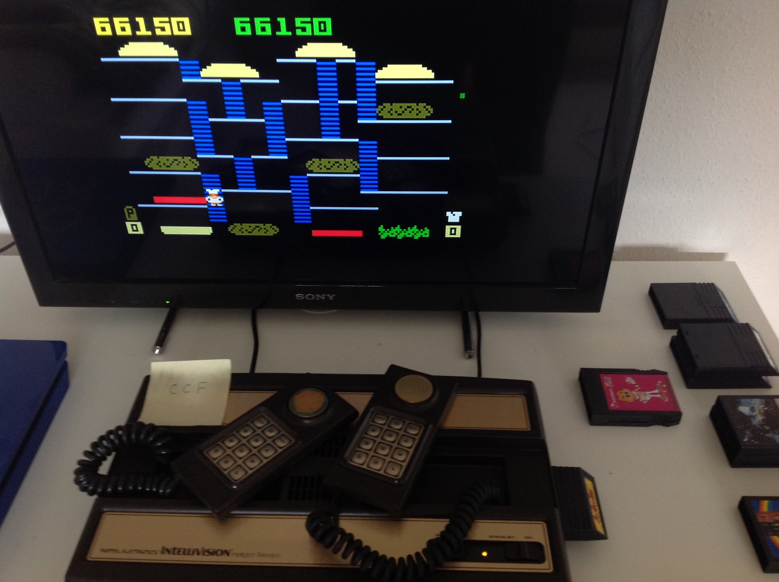 CoCoForest: BurgerTime (Intellivision) 66,150 points on 2018-08-11 09:59:44