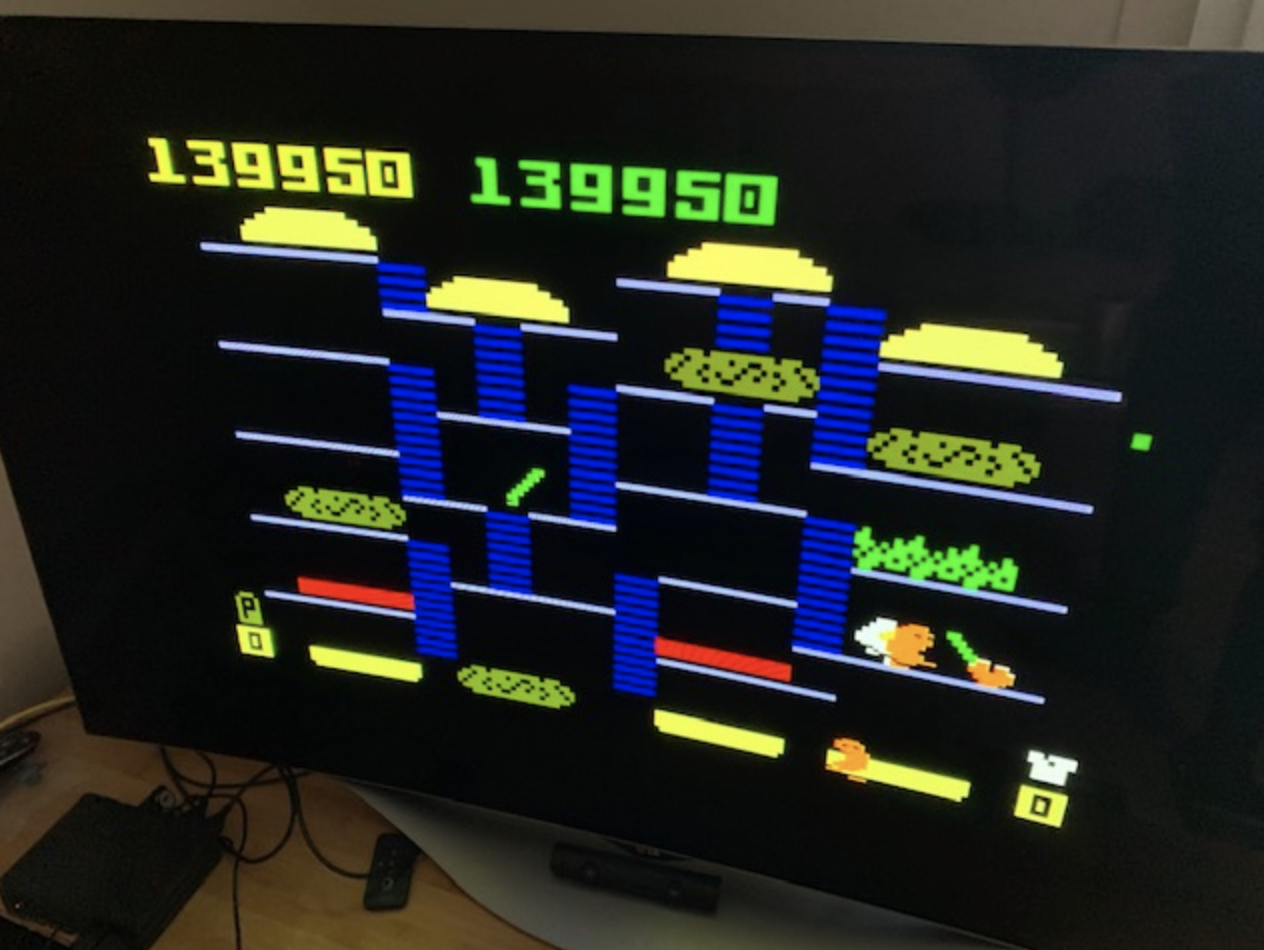 scalpel: BurgerTime (Intellivision) 139,950 points on 2019-03-24 11:09:42
