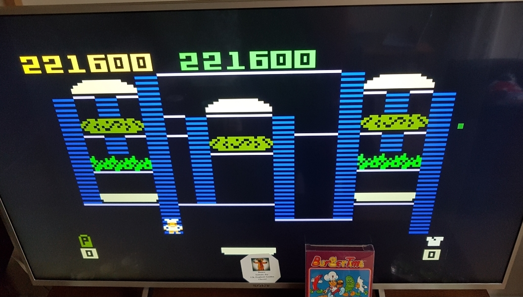 Bamse: BurgerTime (Intellivision) 221,600 points on 2019-03-24 19:24:40
