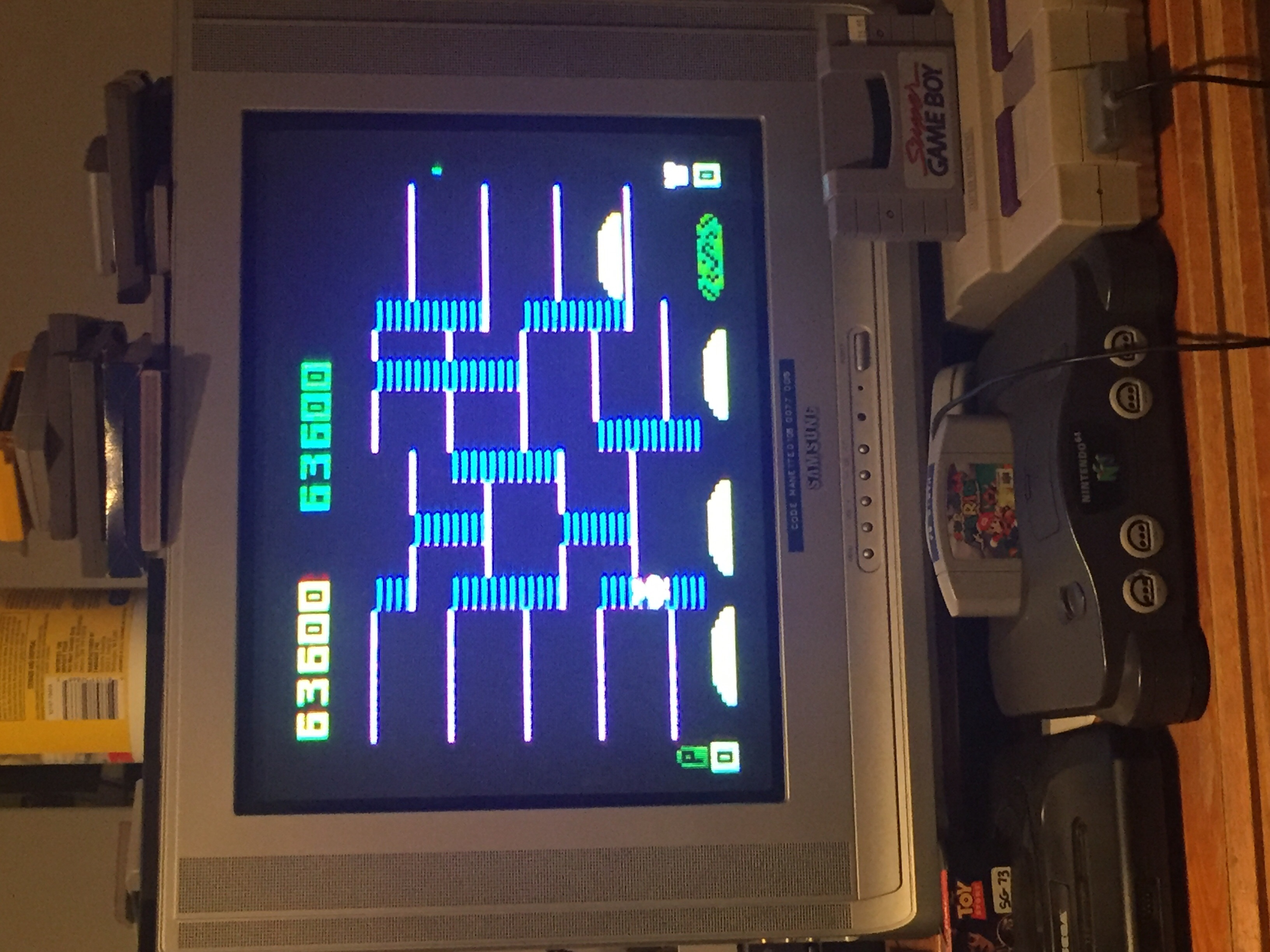ColonelLlama: BurgerTime (Intellivision) 63,600 points on 2019-09-24 19:01:28