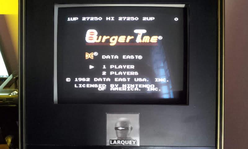 Larquey: BurgerTime (NES/Famicom Emulated) 27,250 points on 2018-06-03 12:57:58