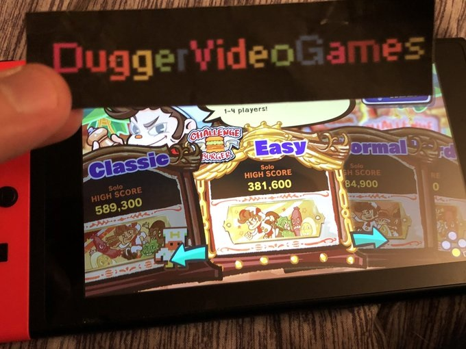 DuggerVideoGames: BurgerTime Party! [Challenge Burger: Easy] (Nintendo Switch) 381,600 points on 2020-02-22 21:13:39