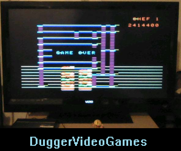 DuggerVideoGames: BurgerTime: Skill 2 (Colecovision Emulated) 2,414,400 points on 2016-04-07 20:29:23