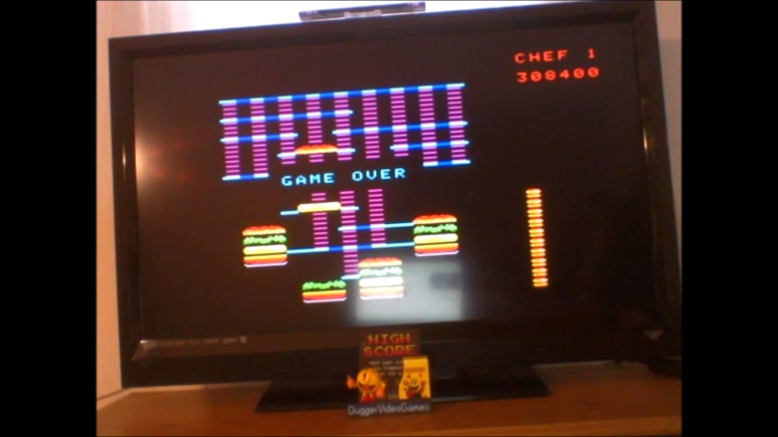 DuggerVideoGames: BurgerTime: Skill 4 (Colecovision Emulated) 308,400 points on 2017-01-26 16:05:34