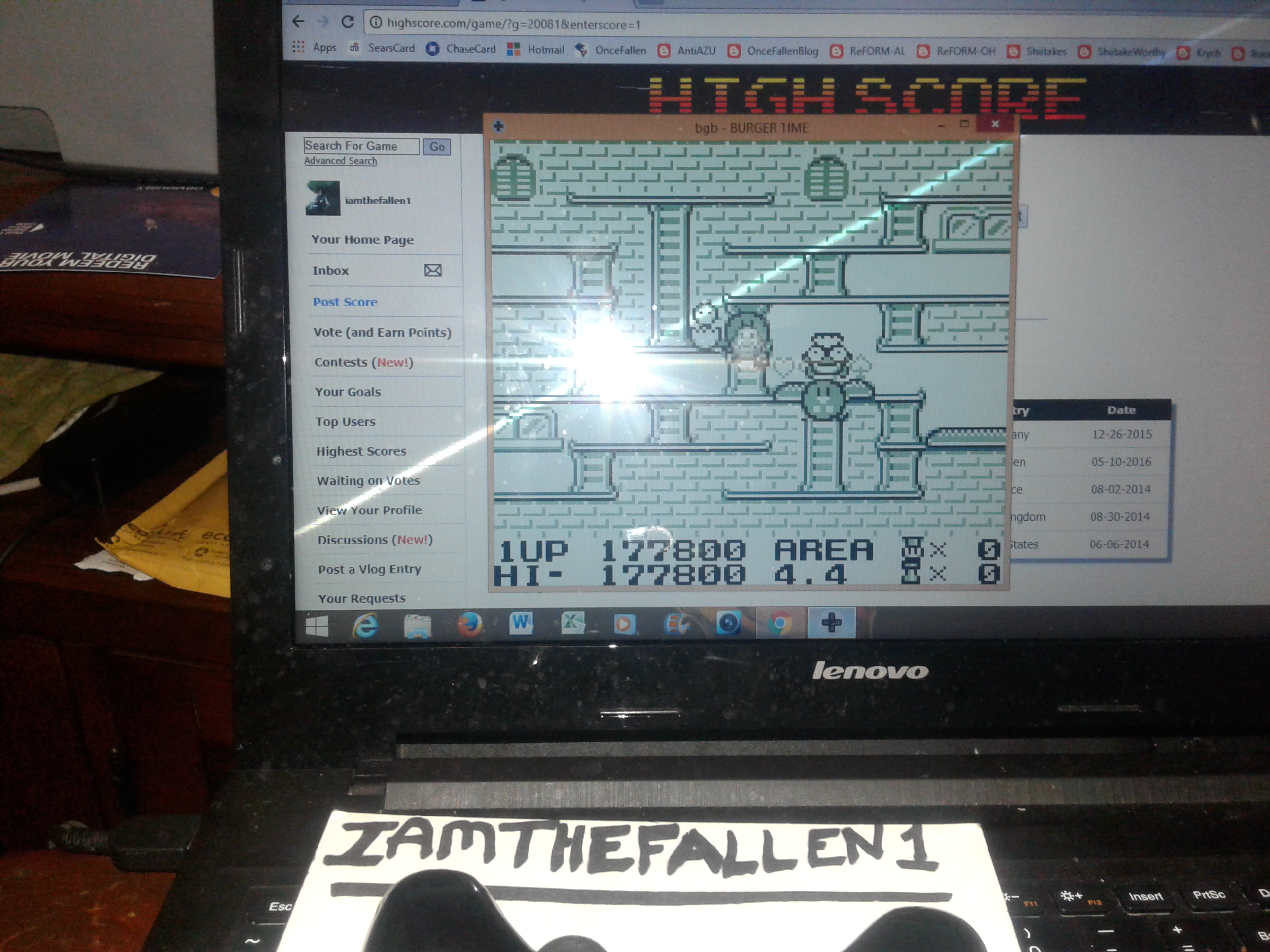 iamthefallen1: Burgertime Deluxe (Game Boy Emulated) 177,800 points on 2017-12-08 19:07:41