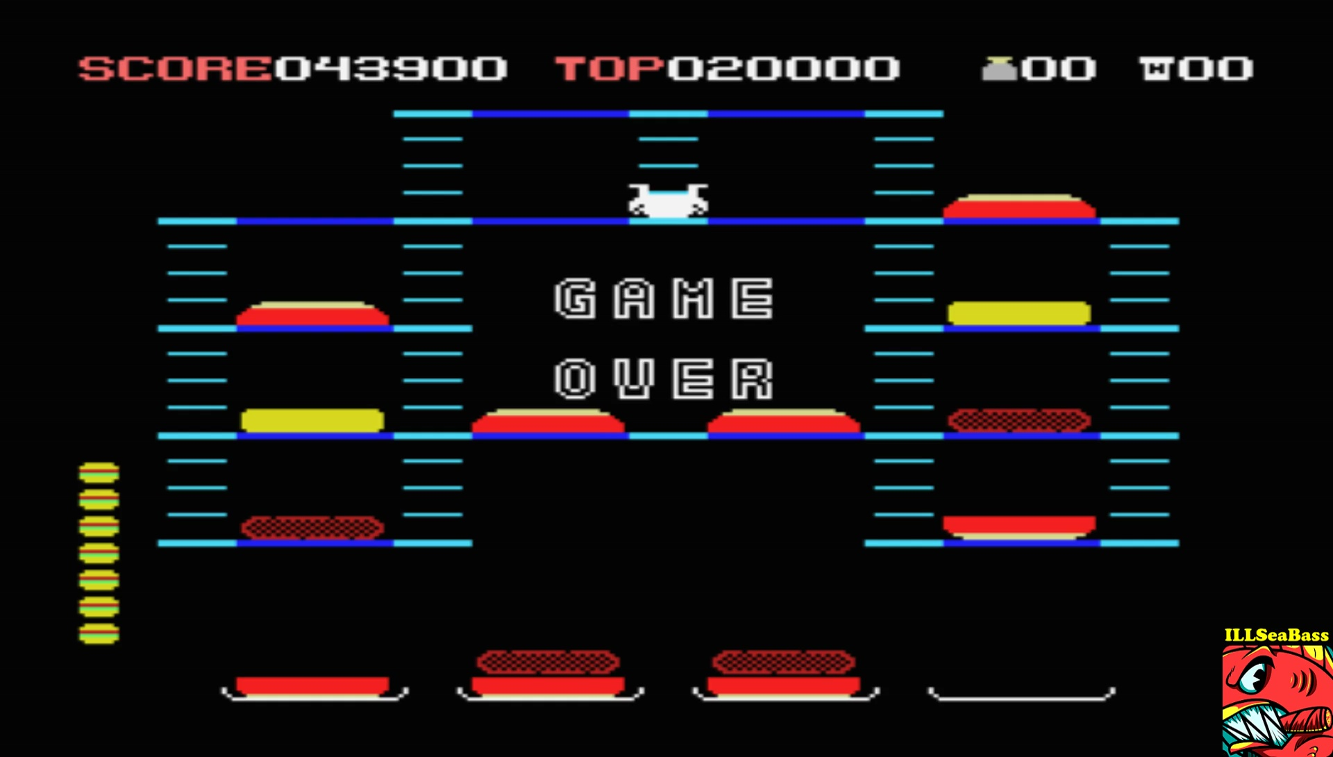 ILLSeaBass: Burgertime (MSX Emulated) 43,900 points on 2017-07-20 23:08:49