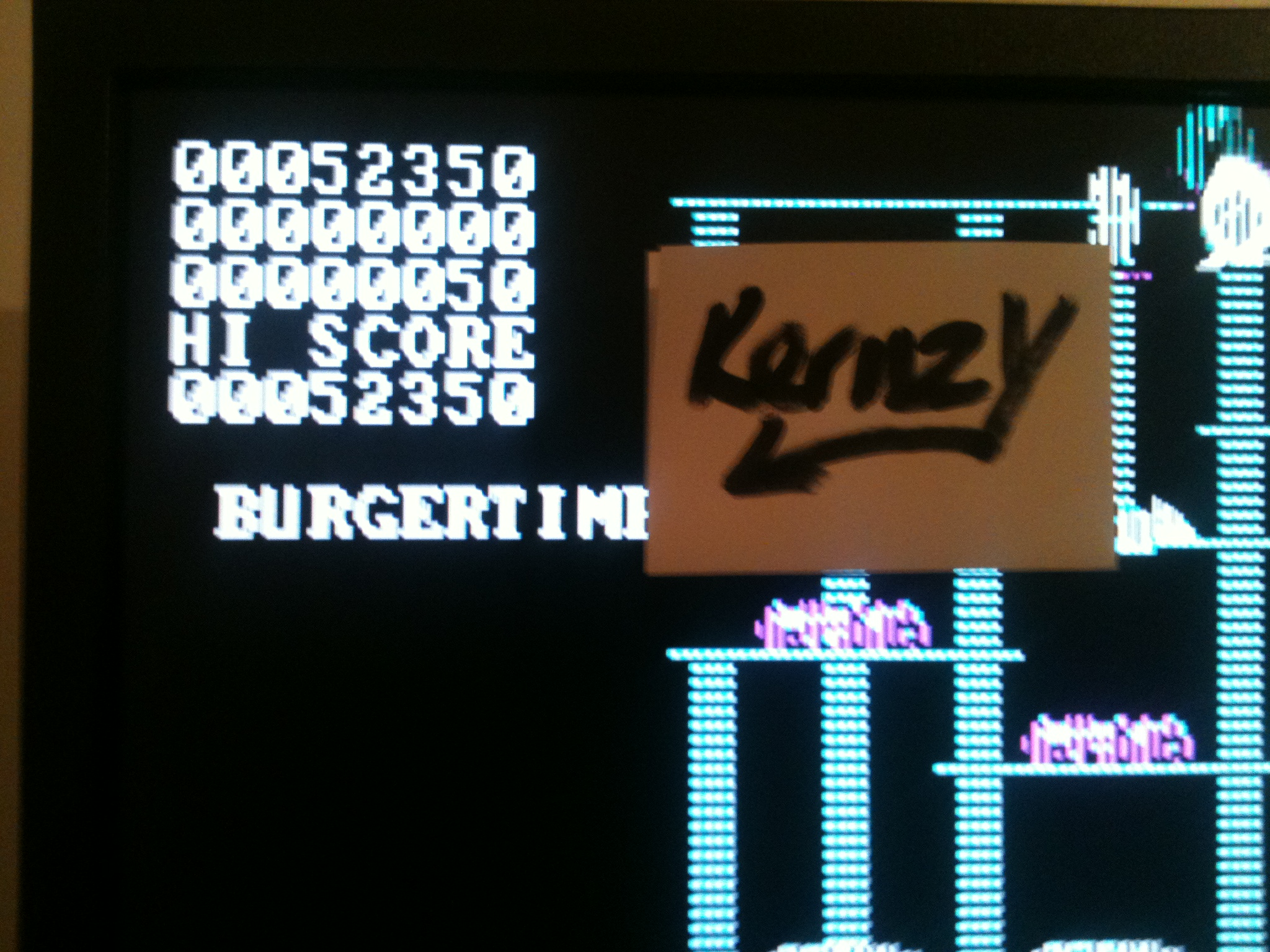kernzy: Burgertime (PC Emulated / DOSBox) 52,350 points on 2015-09-15 09:37:54
