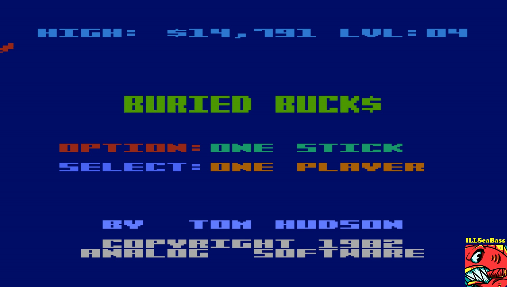 ILLSeaBass: Buried Buck$ (Atari 400/800/XL/XE Emulated) 14,791 points on 2017-05-24 08:52:22