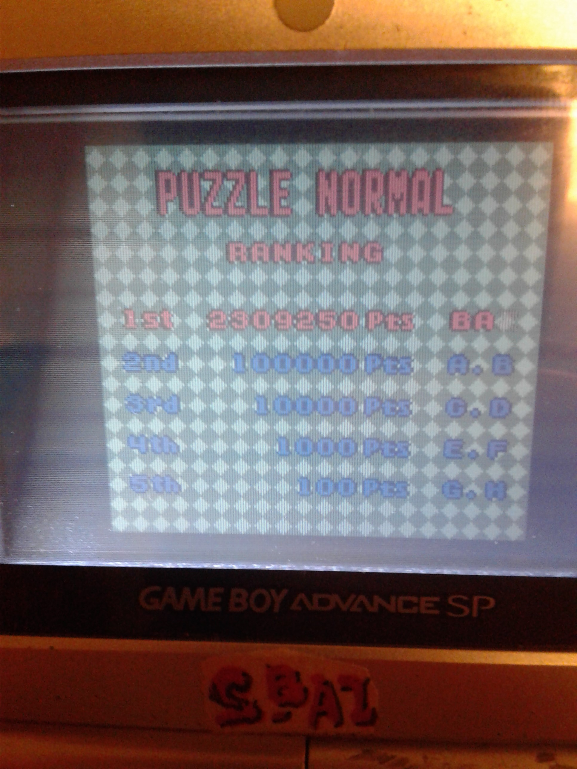 Bust-A-Move Millennium: Puzzle: Normal 2,309,250 points
