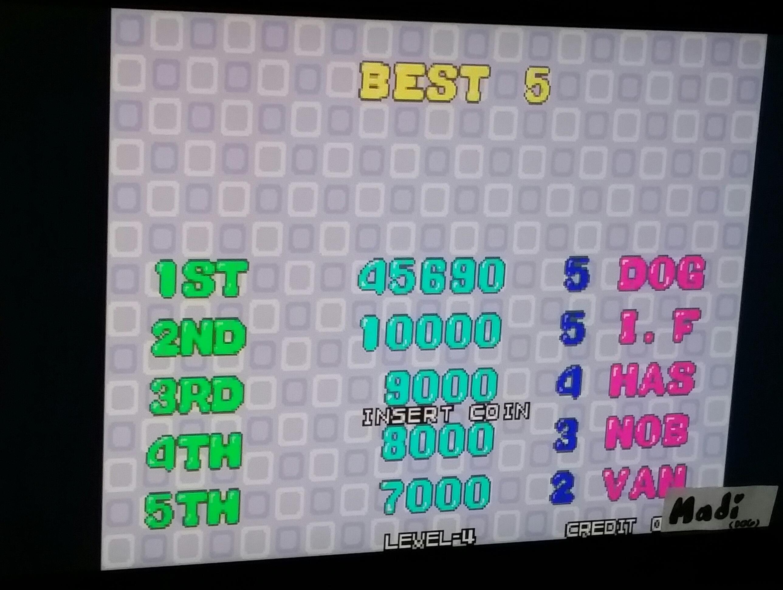 Bust A Move / Puzzle Bobble 45,690 points