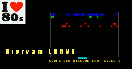 Giorvam: Bustout (ZX Spectrum Emulated) 650 points on 2018-01-17 13:03:56